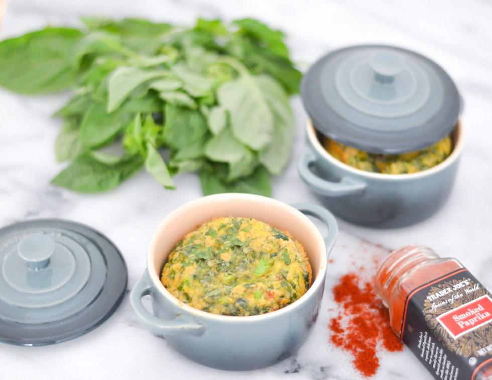 Mini Basil + Greens Easy Egg Soufflé for Breakfast