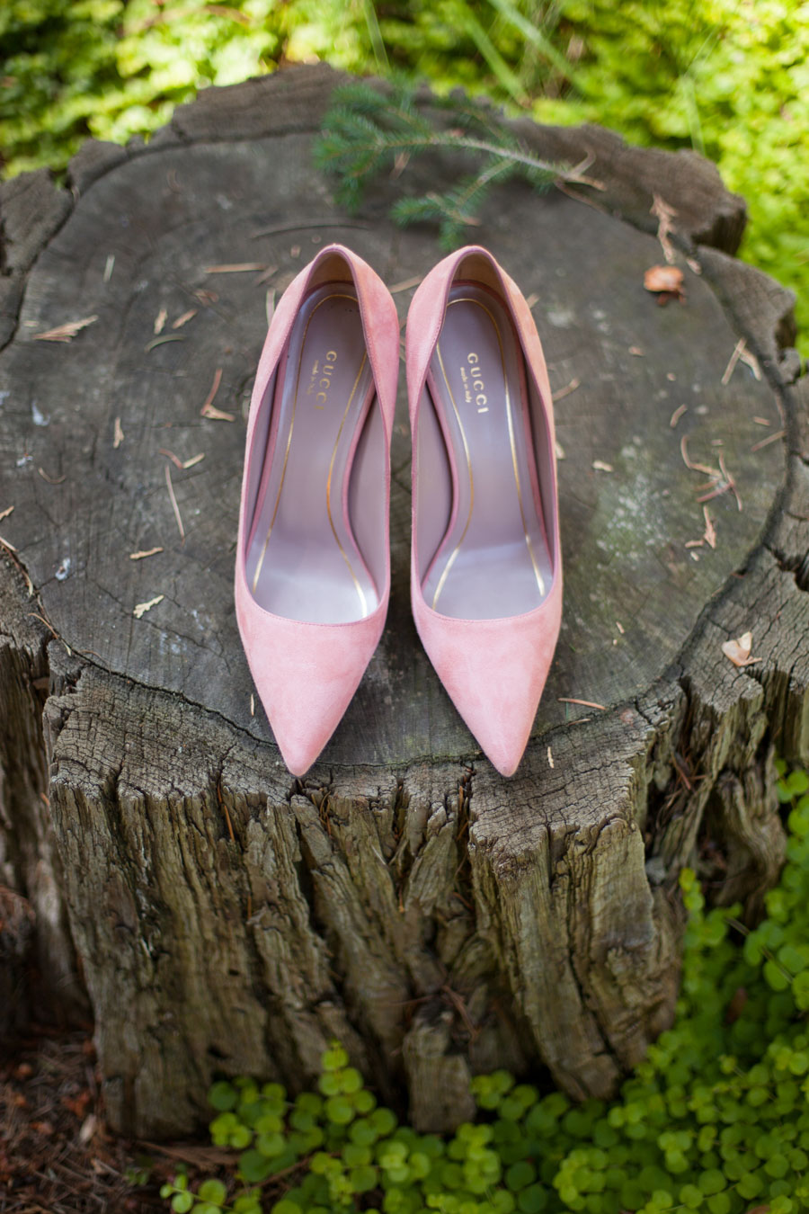 My Wedding Dress Story - Designing My Own Wedding Dress - Pink Suede Gucci Heels - Wedding Shoes