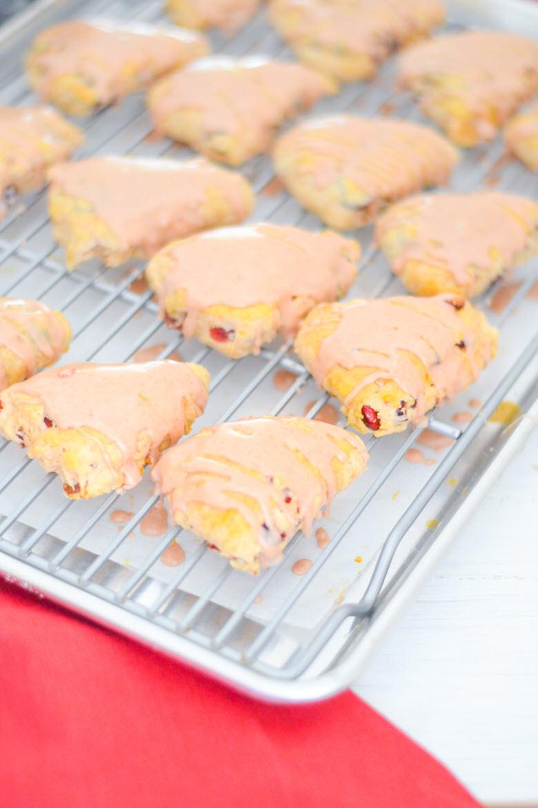 Amaretto Cherry Scones