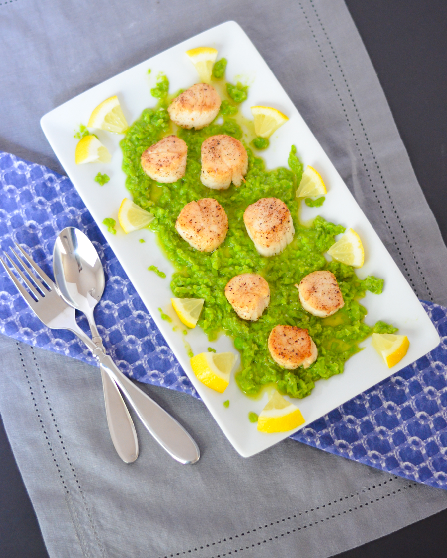 How to Cook Scallops on Stove | Pea Pesto Appetizer