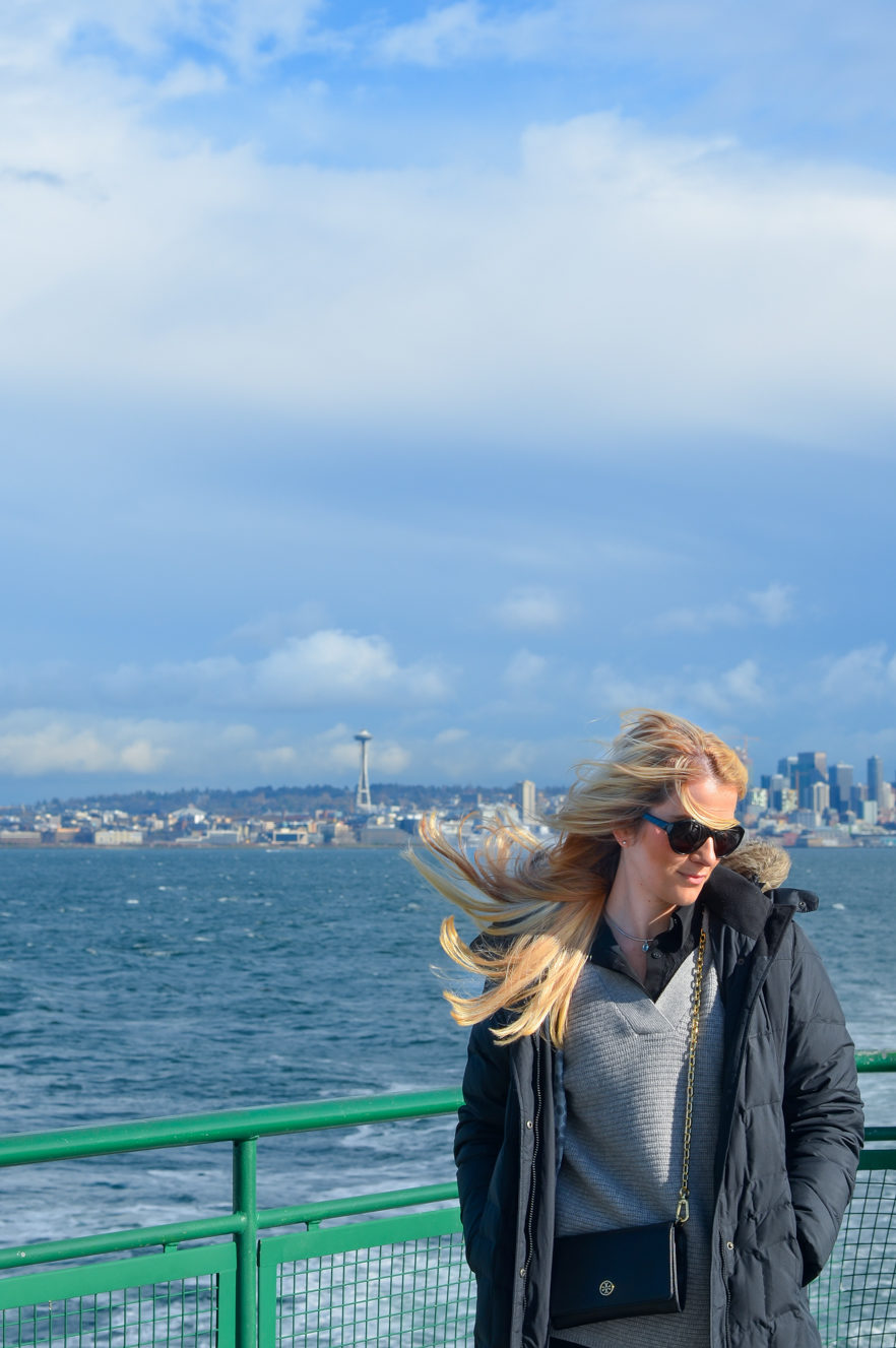 What I Wore Seattle in February | EB Black Puffy Coat