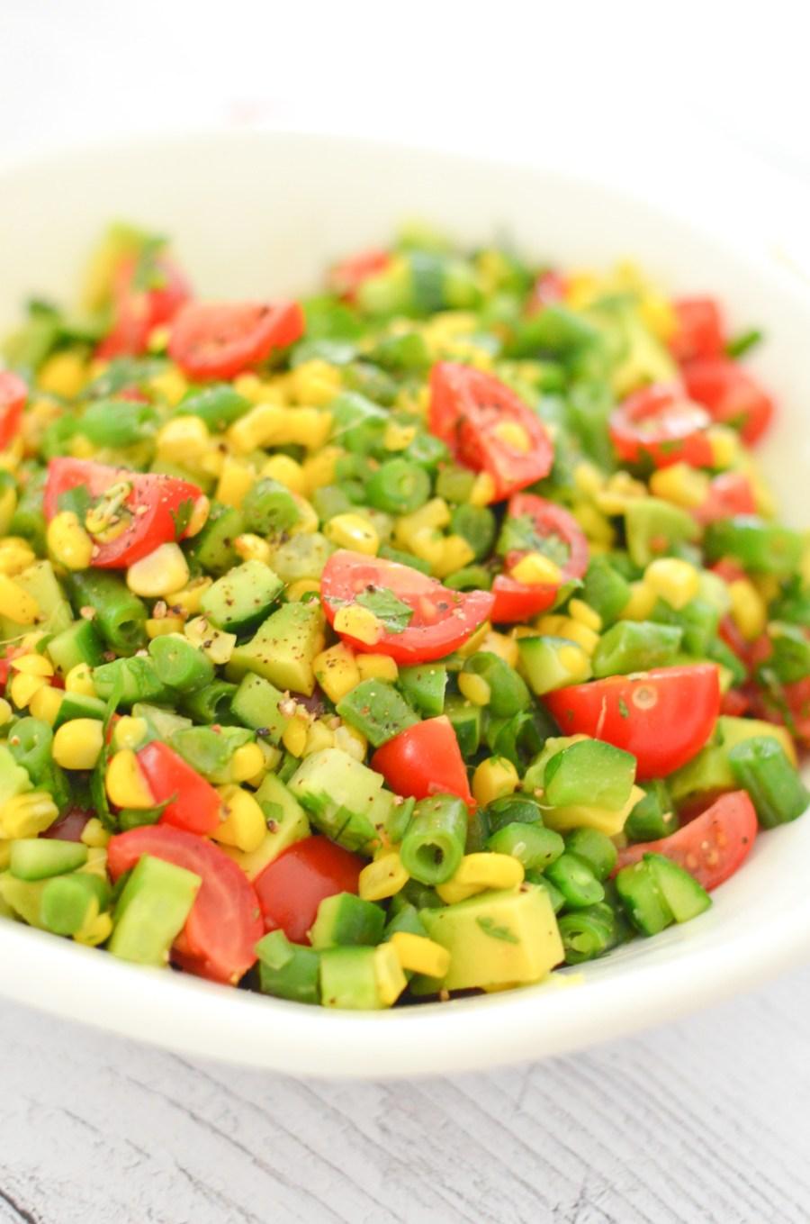 California Succotash Salad | Summer Produce Recipes