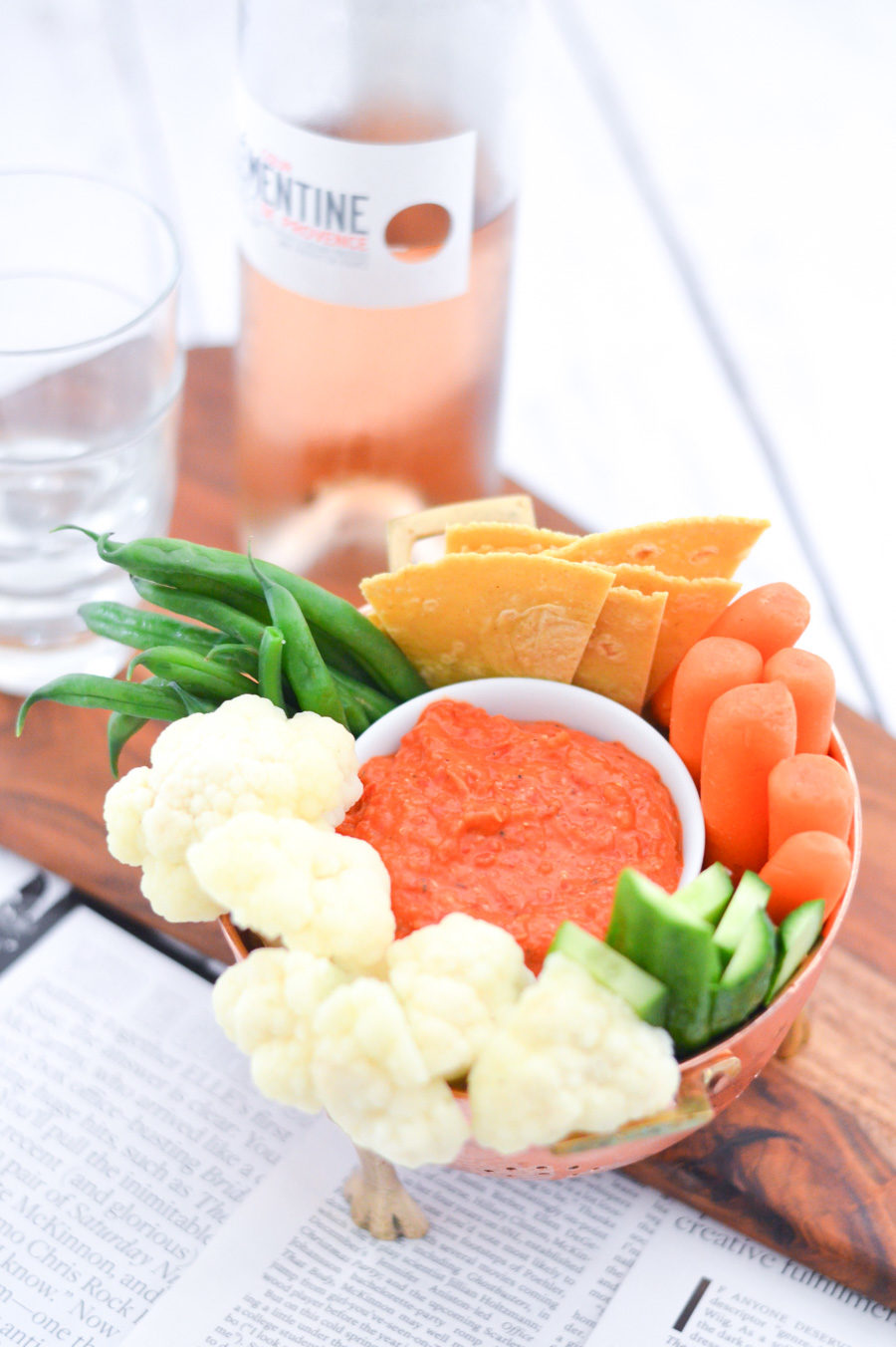 Red Pepper Hummus + Crudités