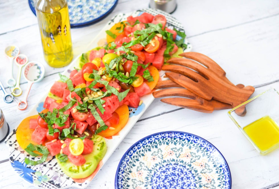 Heirloom Tomato, Watermelon, + Basil Salad | Healthy, Vegan Summer Recipe | Luci's Morsels :: LA Healthy Food Blogger