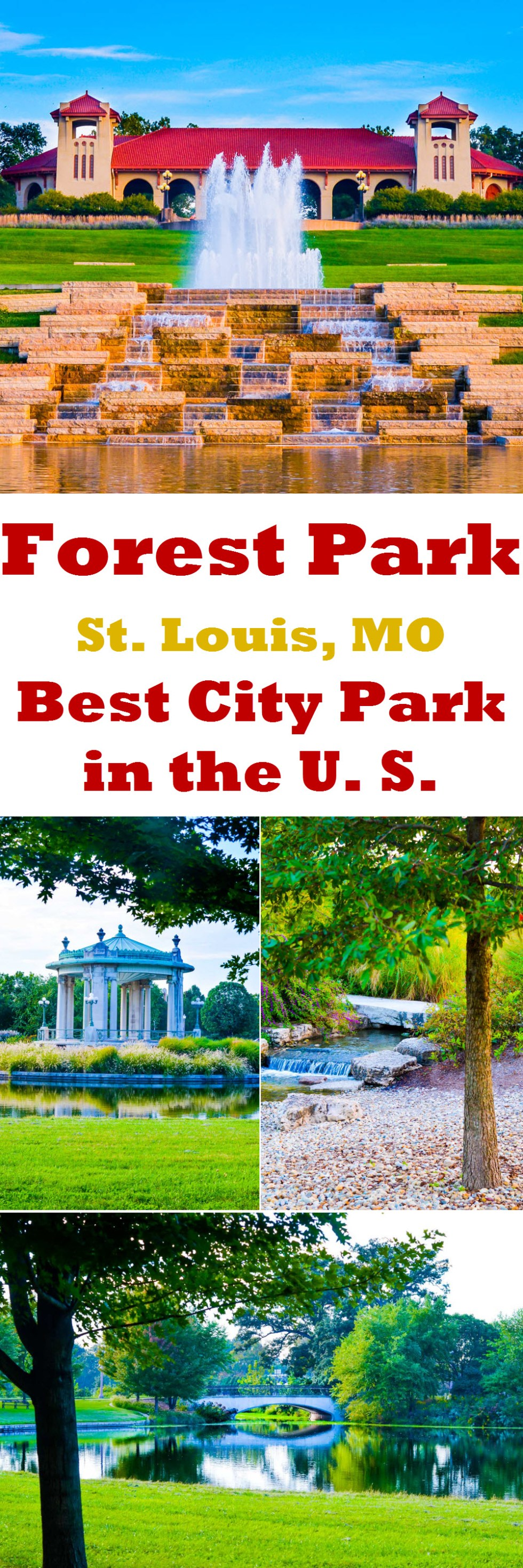 What to Do 2 Days in St. Louis Travel Guide - Forest Park. Best City Park in the US Photos!