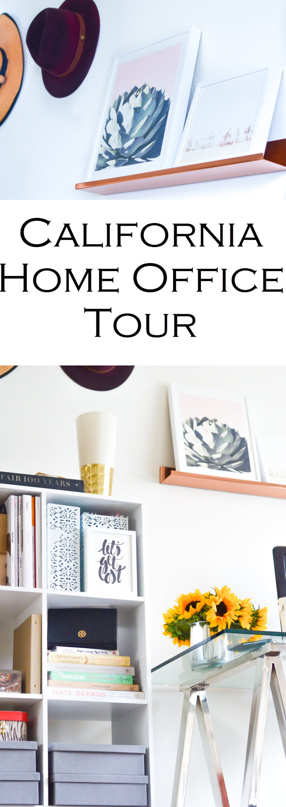 California Blogger Home Office. How to Hang Hats on Wall