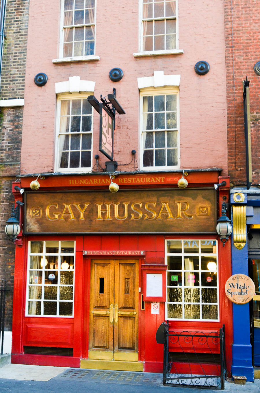 Authentic London Walking Tours in Soho + Covent Garden } Gay Hussar Bar