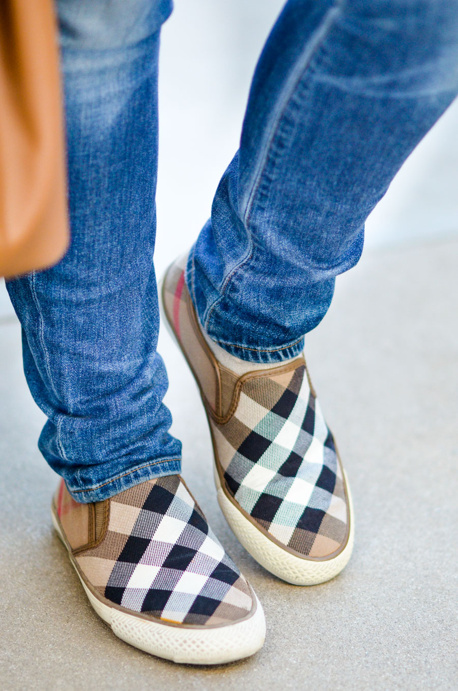 Burberry Outfit Ideas - Slide in Burberry Sneakers