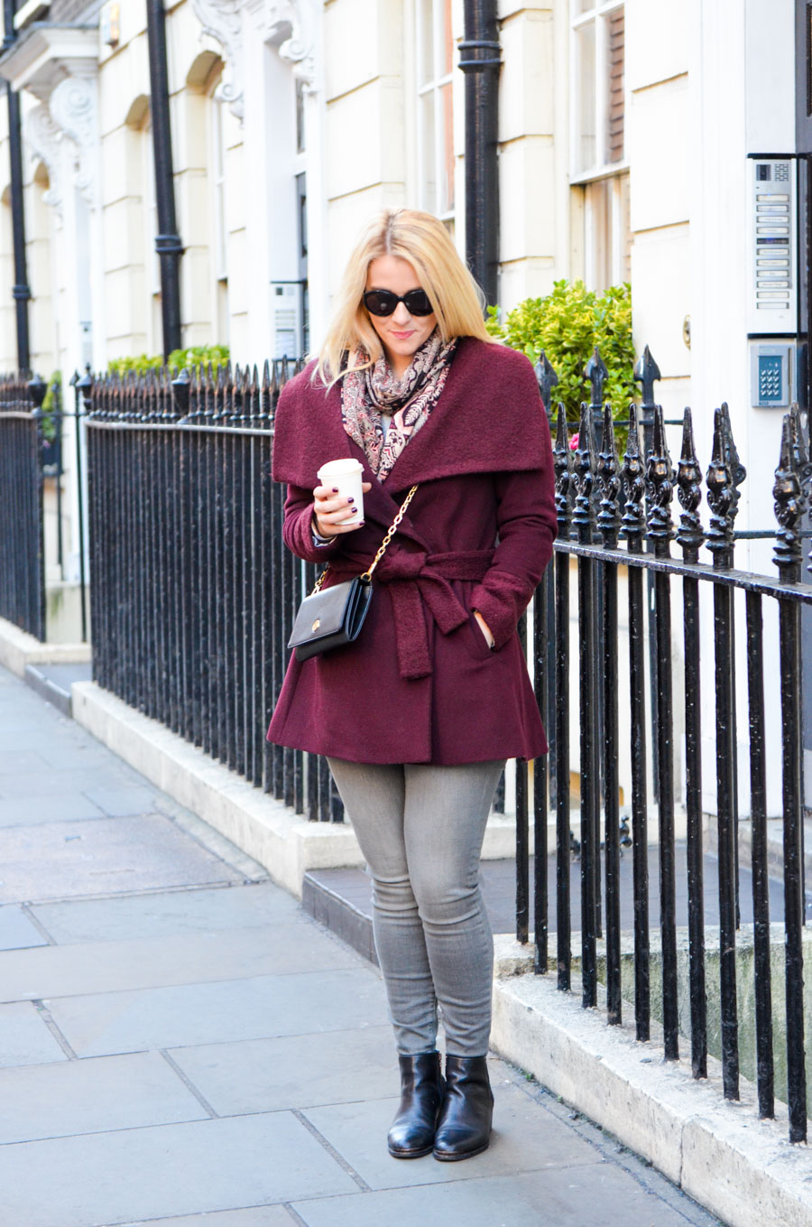 How to Wear a Wrap Coat - London Fashion Blogger Outfit