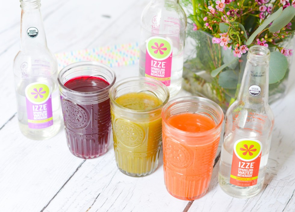 Sparkling Juice Refreshers with IZZE Sparkling Water | Drink Recipe