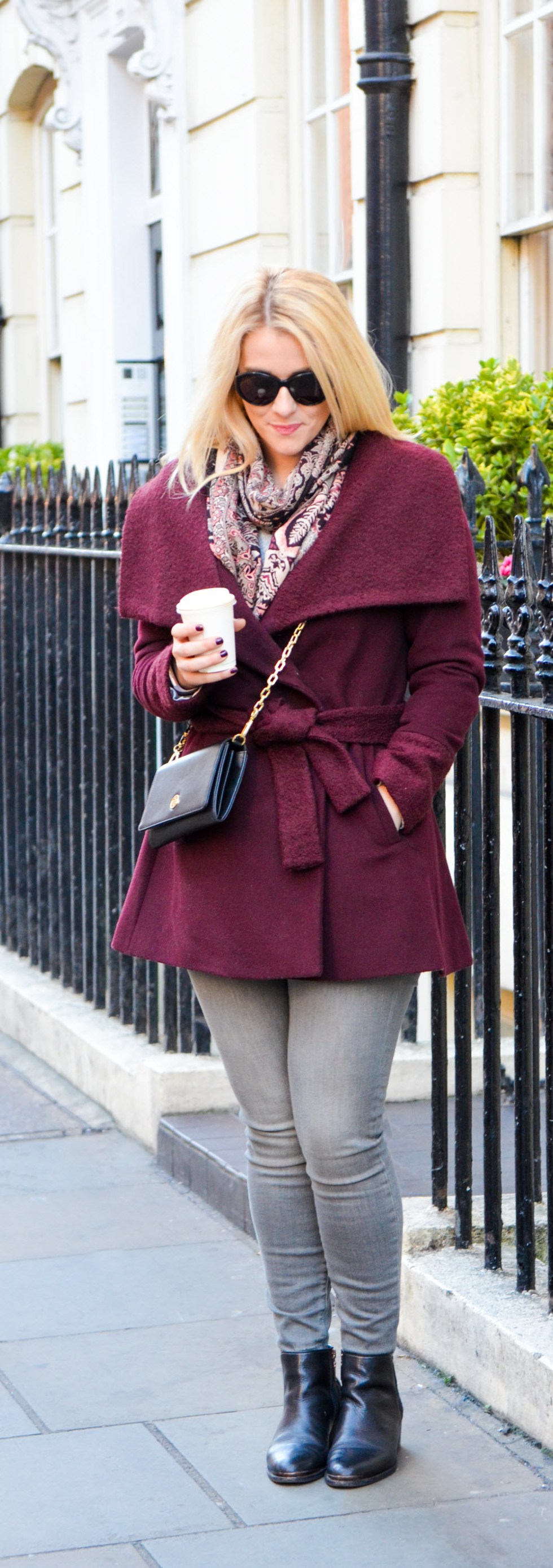 How to Wear a Wrap Coat - London Blogger Outfit