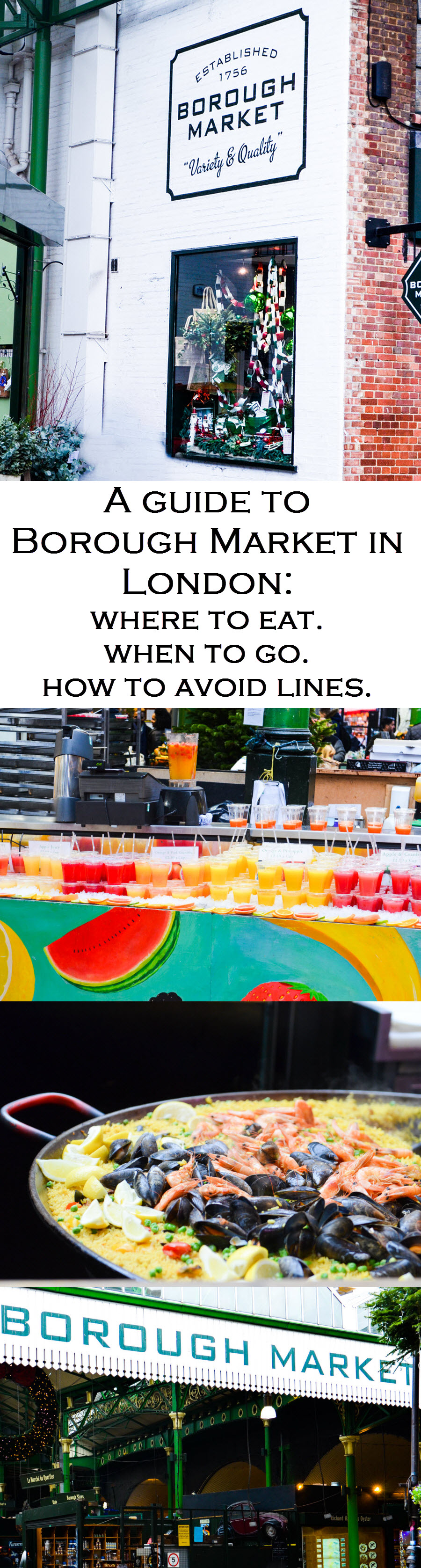 Borough Market Guide in London. What to do in London, UK.