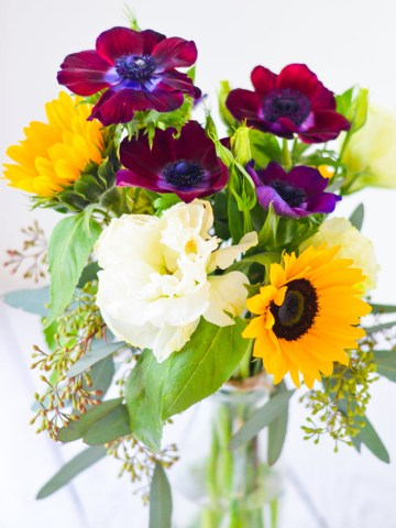 DIY Yellow + Purple Flower Ideas w. Sunflowers - Original Flower Market Los Angeles