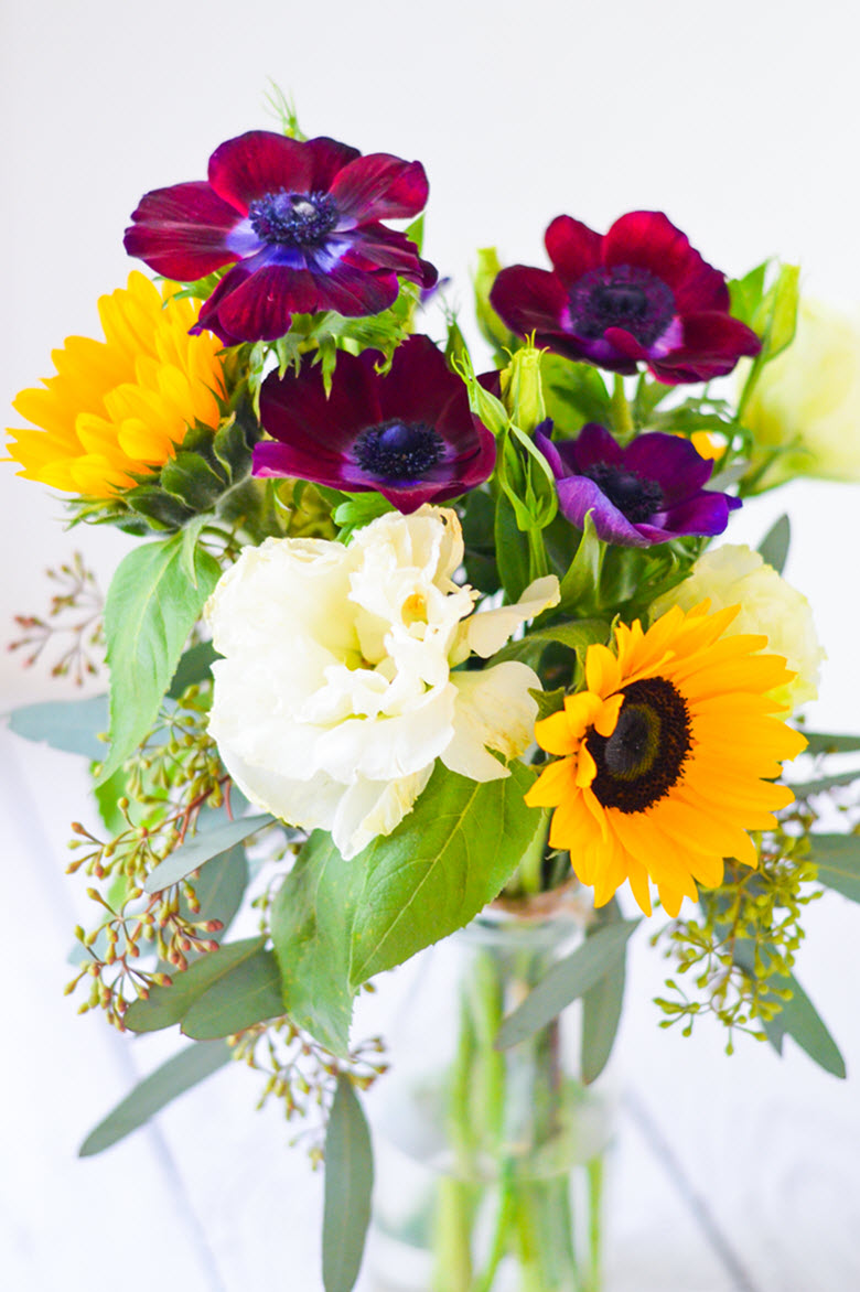 DIY Yellow + Purple Flower Ideas w. Sunflowers - Original Flower Market Los Angeles