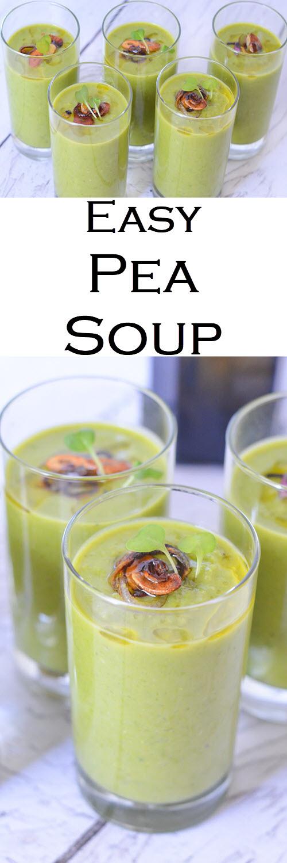 Quick + Easy Pea Soup without Ham - Vegan, Healthy. #LMrecipes #soup #peas #vegan #plantbased #healthy #dairyfree #foodblog #foodblogger #recipe