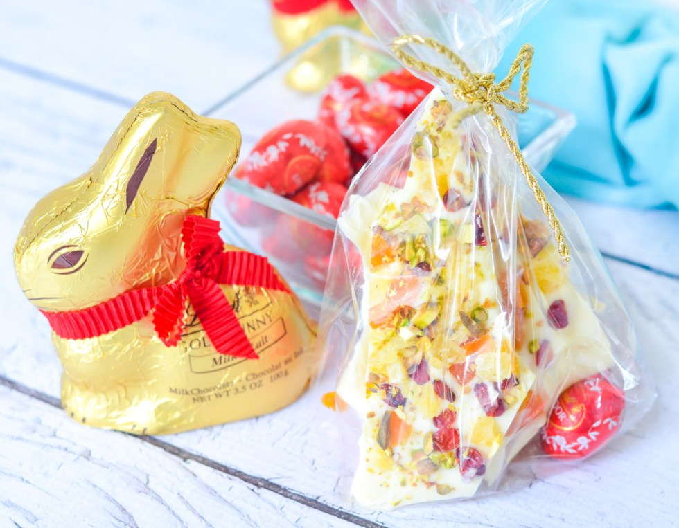 White Chocolate Bark w. Dried Fruit for Easter/Spring