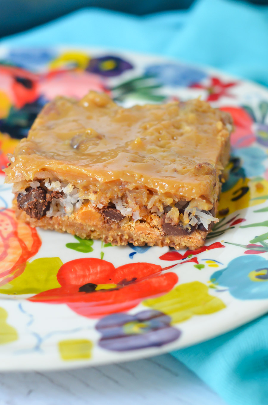 Dulce de Leche 7 Layer Bars - Magic Cookie Bars