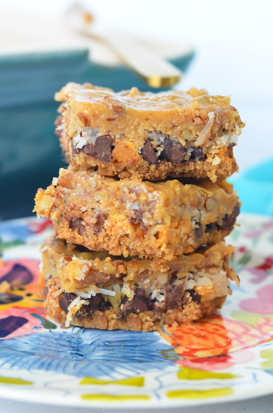 Dulce de Leche 7 Layer Bars - Magic Cookie Bars