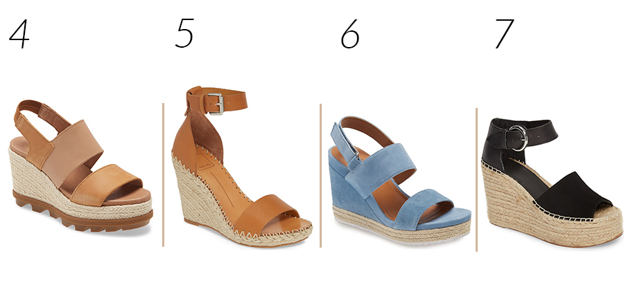 Comfortable Wedge Sandals for Spring and Summer