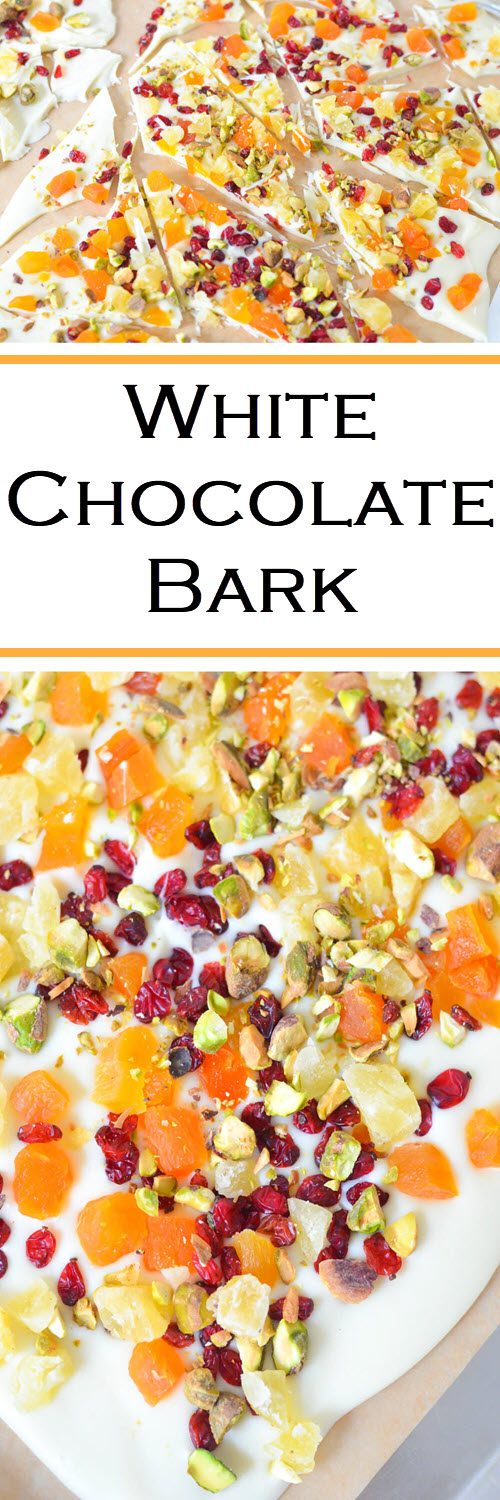 White Chocolate Bark w. Dried Fruit for Easter-Spring#LMrecipes #candy #chocolate #whitechocolate #homemade #dessert #easter #spring #summer #foodblog #foodblogger #recipe #driedfruit