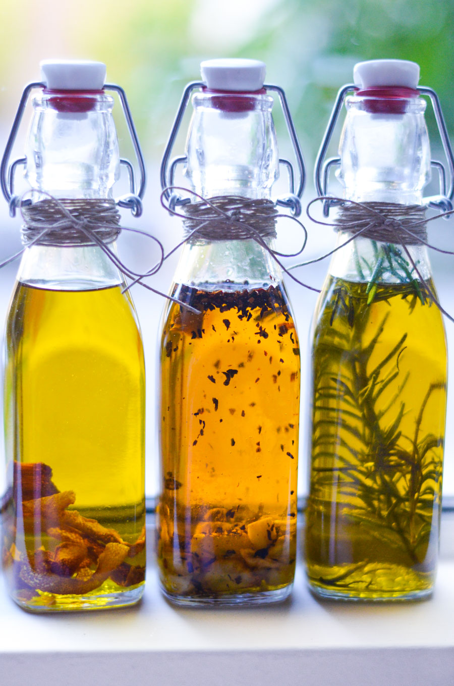 DIY Holiday Gift Infused Olive Oils