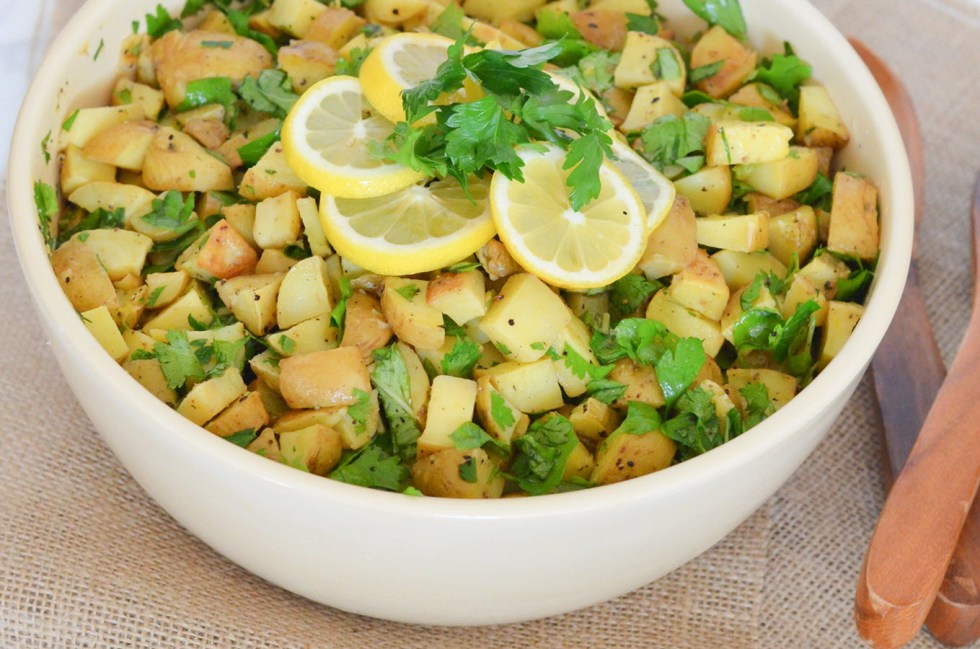 9 Healthy Summer Salads | Lemon + Herb Dairy Free Potato Salad - 6