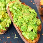 BBQ Avocado Toast - Avocado on Spicy Grilled Bread
