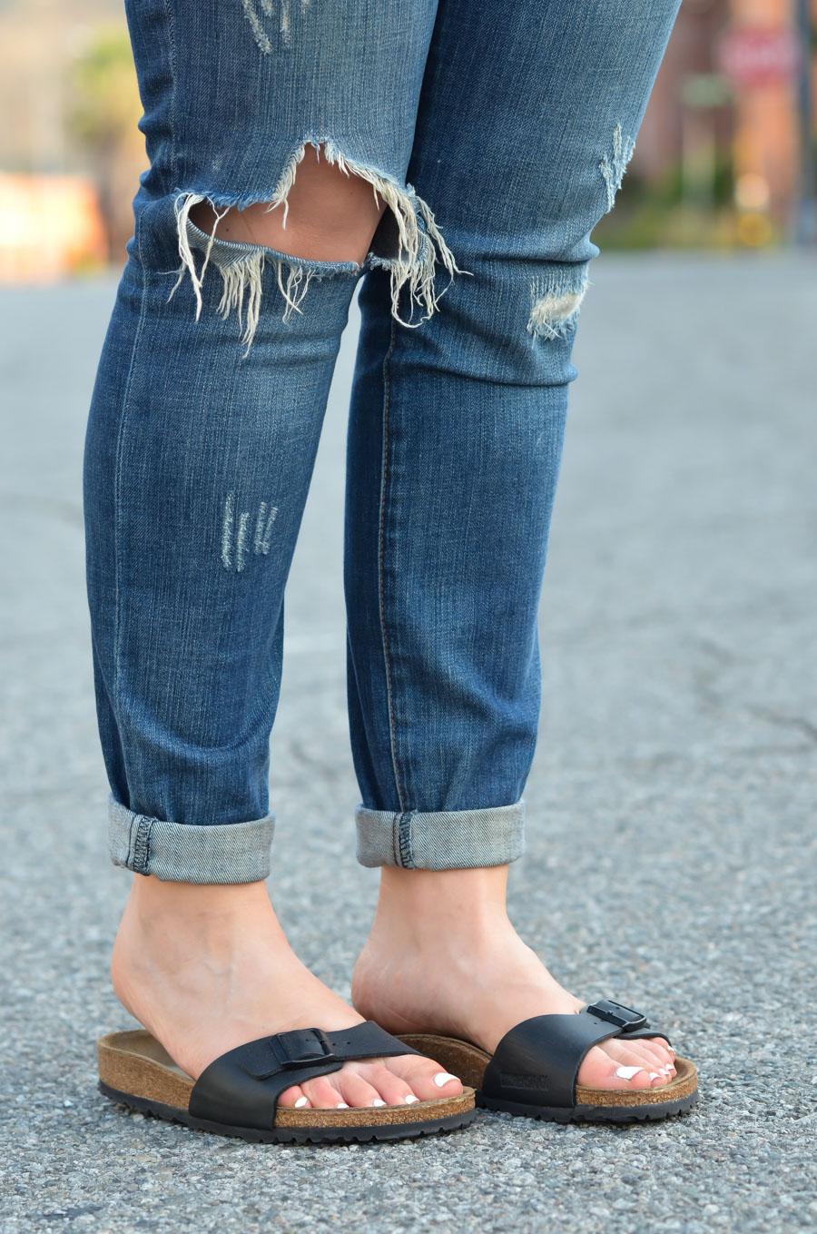 Madrid Birkenstocks + Jeans - Chic Birkenstocks Outfit Ideas for Women-
