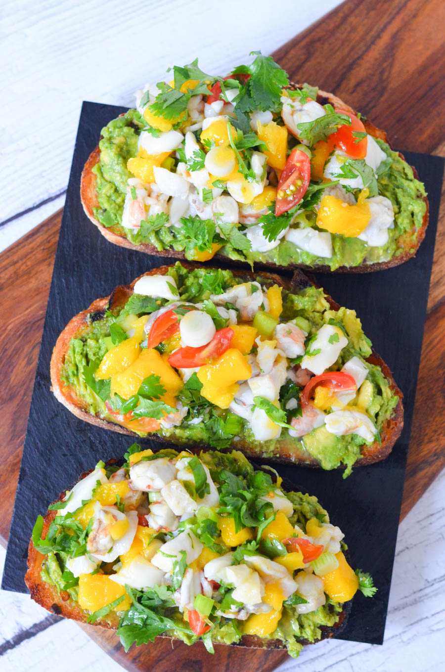 Ceviche Avocado Toast Recipe - No Cook Summer Brunch or Dinner Idea