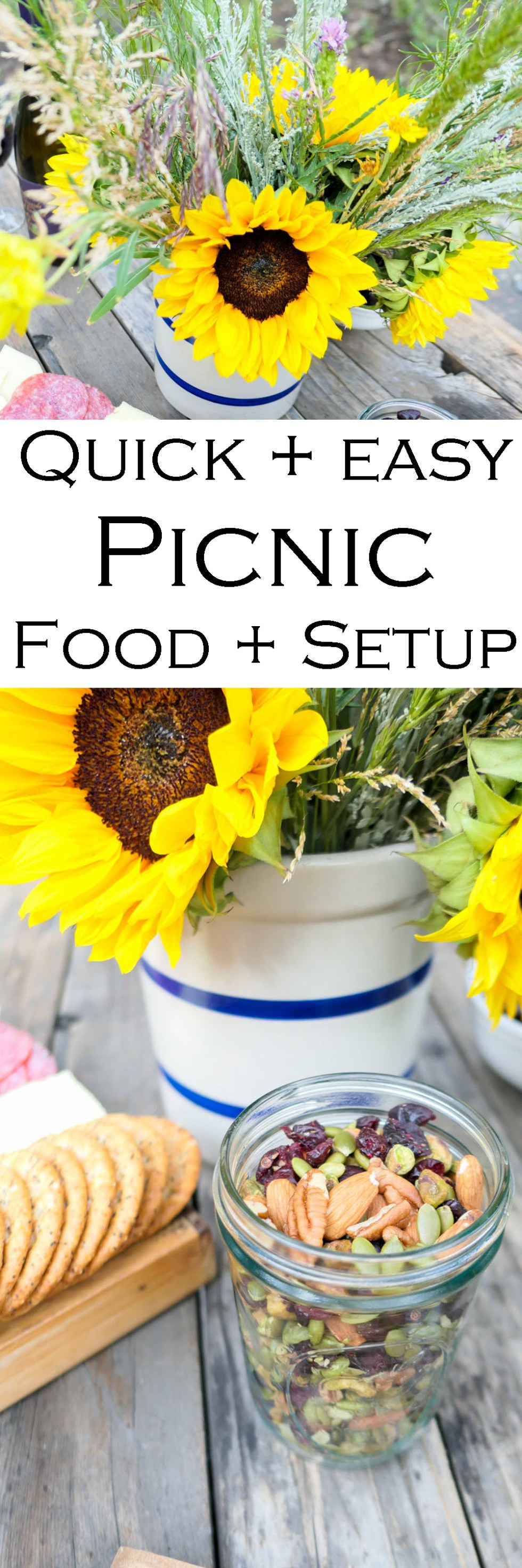 Quick Picnic Food List + Setup - Picnic by the Creek Setup