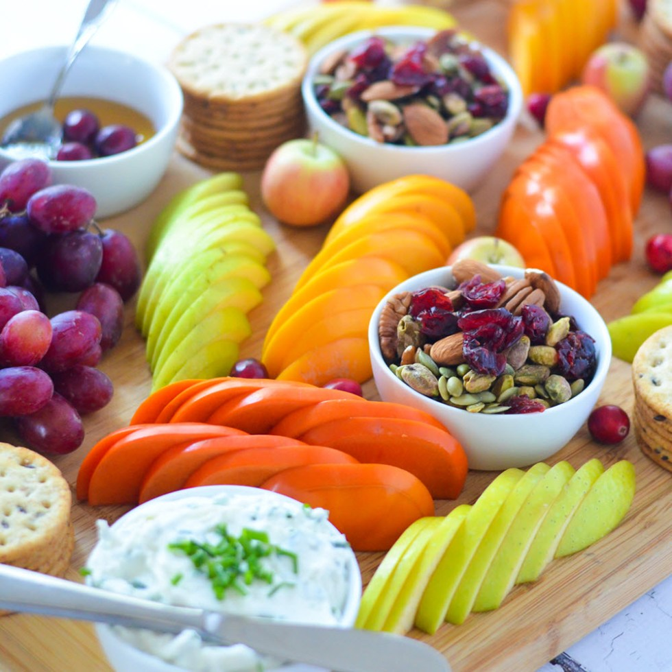 Fruit + Cheese Board - Healthy Christmas Party Recipes