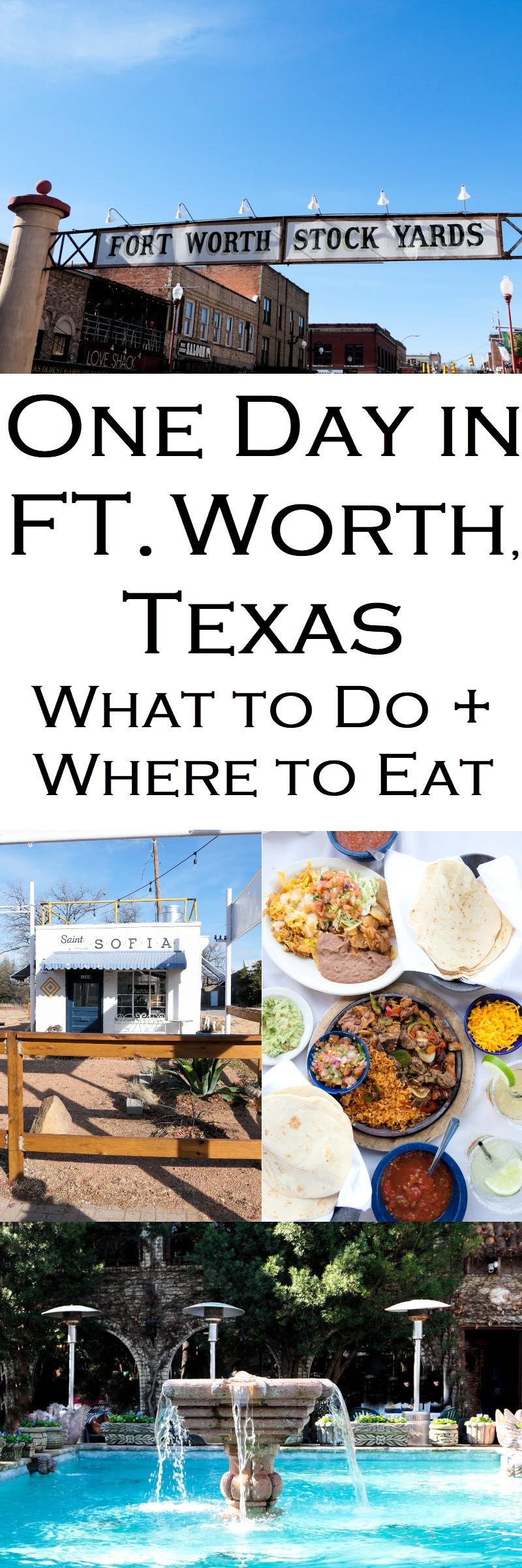 What to Do in Ft. Worth for 1 Day Travel Guide - Where to Eat #texas #ftworth #dallasftworth #travel #travelguide #travelinspiration #travelblog #travelblogger #wanderlust