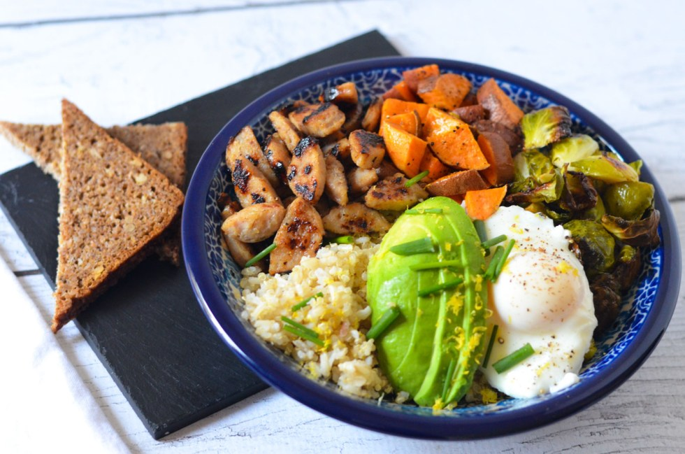 Healthy Sausage Recipe - Chicken Sausage Breakfast Bowl