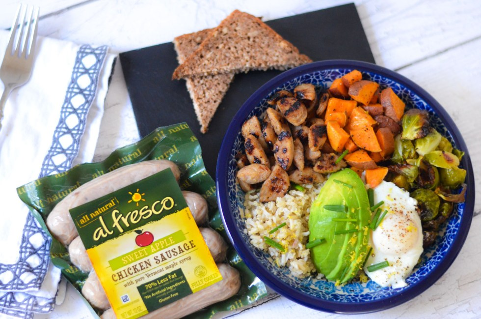 Healthy Sausage Recipe - Chicken Sausage Breakfast Bowl w. Al Fresco Fully Cooked Sausage