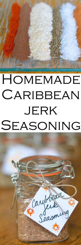 Homemade Caribbean Jerk Seasoning. Homemade spice mix seasoning recipes including Caribbean jerk Seasoning. Great in grilled chicken or vegetable recipes. #christmasgifts #christmasgift #seasonings #spicemixes #diygift #diyholidays #diyholidaygift #homemadegift #homemadegifts #giftguide #homesteading #holidays #LMrecipes