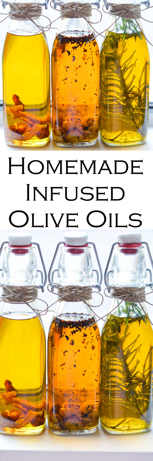 Best Infused Olive Oil Recipe. Easy homemade infused olive oils. Easy recipes for garlic olive oil, spicy olive oil, and rosemary oil - all great dipping oils for bread. #christmasgifts #homemadegifts #diygifts #homemaking #oliveoil #healthyrecipes #LMrecipes