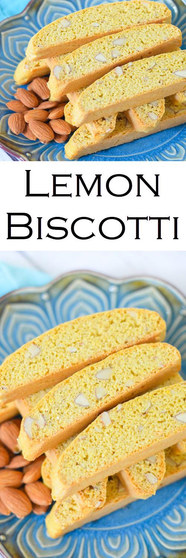 Lowfat Almond Lemon Biscotti #cookies #biscotti #cookierecipe #italiancookies #LMrecipes #foodblog #foodblogger #lowfat #lemon #almond #coffee