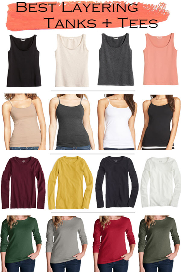 Best Tanks + Tees for Layering in Cold Weather.