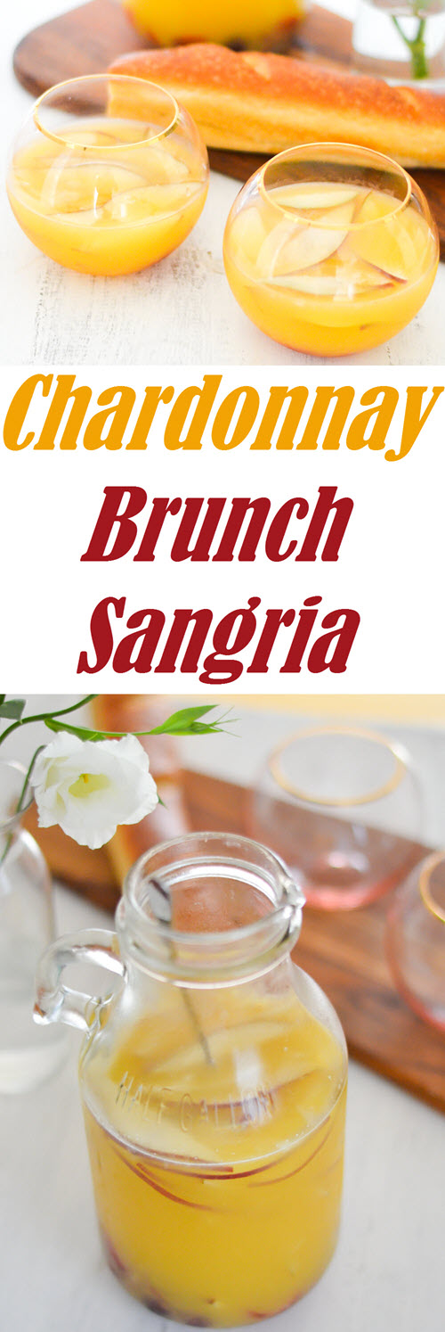 Brunch Sangria | Chardonnay and Orange Juice Sangria for Breakfast/brunch. Skip the mimosas for the brunch cocktail recipe.