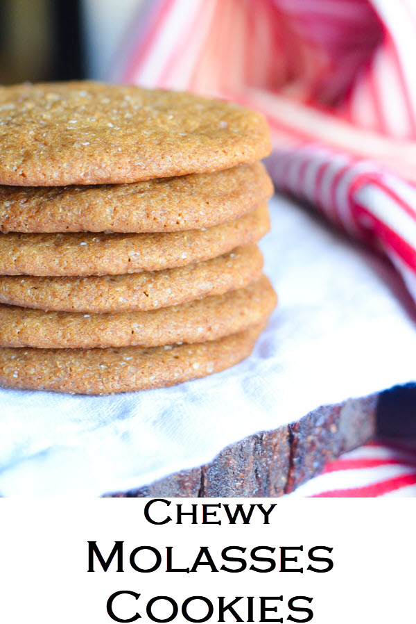 Chewy Molasses Cookies. Soft Ginger Molasses Cookies w. Fresh Ginger.