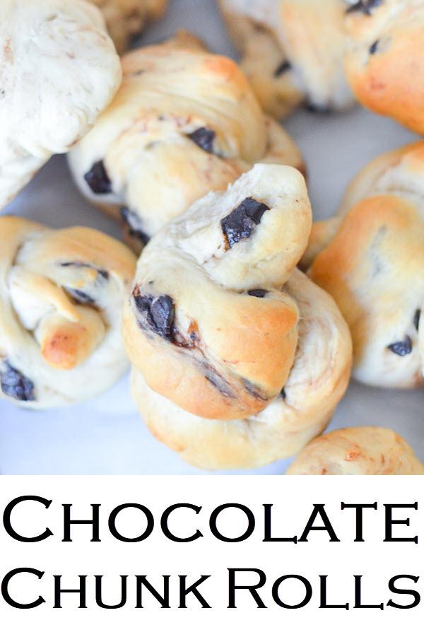Chocolate Chunk Rolls. Yummy Breakfast rolls + chocolate chunk recipe.