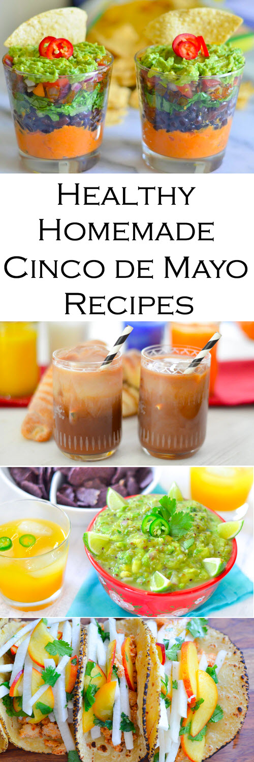 Healthy Homemade Cinco de Mayo RecipesHomemade, Healthy Cinco de Mayo Recipes for Everyone. Avocado dips, Mexican iced Coffee, and Healthy Fish Tacos.