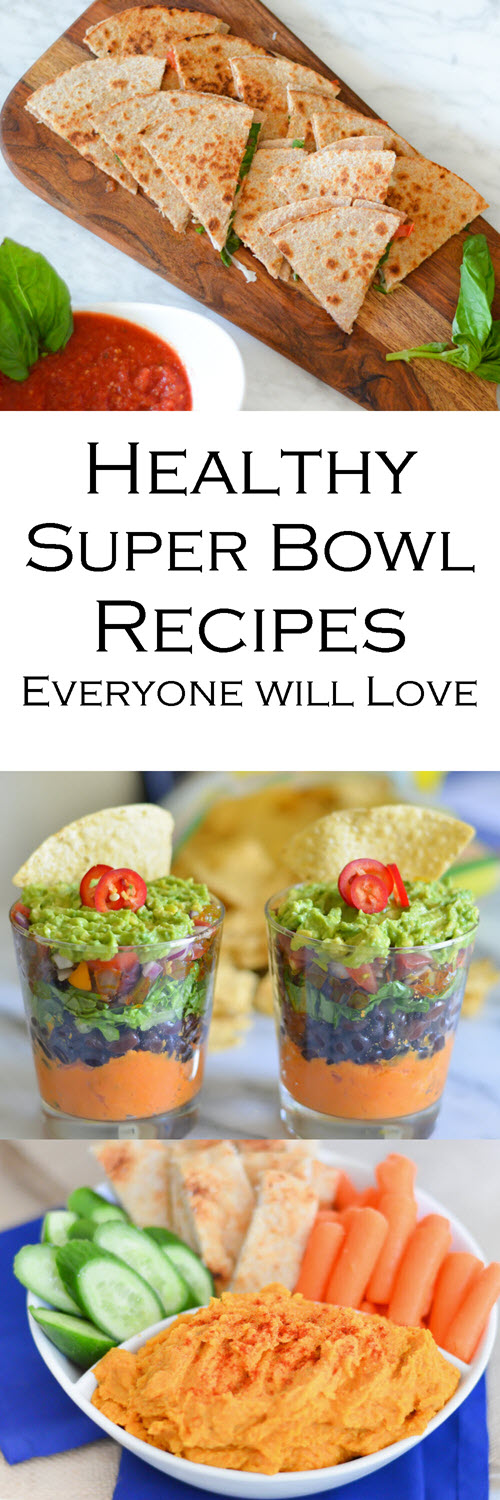Healthy Super Bowl Appetizers. Healthy Game Day appetizers, sides, and finger foods.
