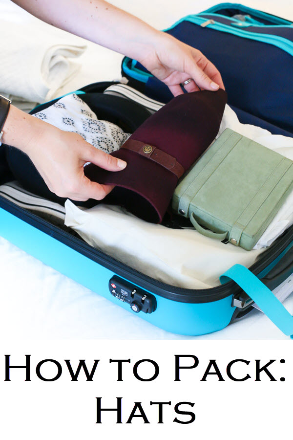 How to Pack Hats in a Suitcase for Travel. Pack fedora and structured hats in carryon or large luggage. How to prevent squishing hats in suitcase.