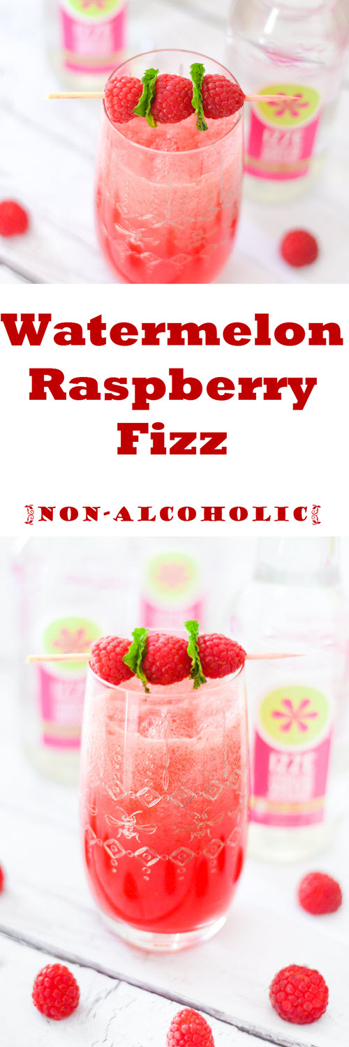 Watermelon Raspberry Fizz Drink. How to Make Watermelon Juice. Watermelon Raspberry Fizz Drink made with IZZE Raspberry Watermelon Sparkling Water. A fun summer mocktail everyone will love!