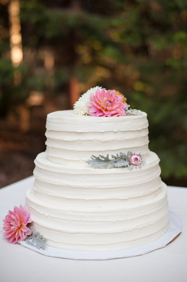 Wedding Cake with Organic Flowers. Wondering about Designing Your Own Wedding Dress? This is my short story of my homemade wedding dress, including why I didn't buy my wedding dress and how we designed it.