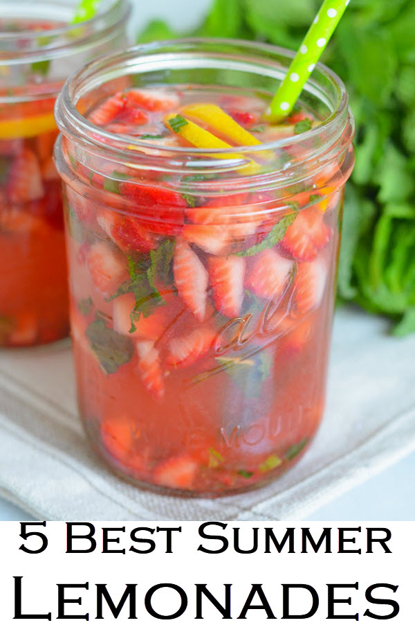 Fresh Fruit Summer Lemonade Recipe Roundup. Lemonade recipes for summer, winter, and spring. Delicious non-alcoholic drinks for kids and grownups. The perfect party drink recipes.