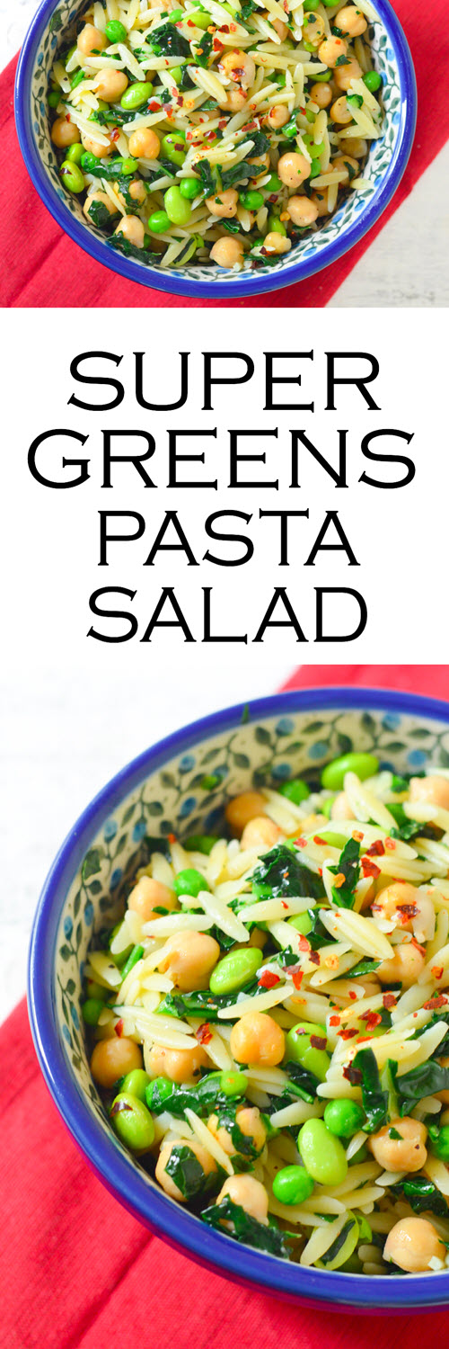 Superfoods Healthy Pasta Salad. A healthy pasta salad made with orzo. This superfoods recipe is easy and delicious - a one dish pasta recipe to serve warm or cold.