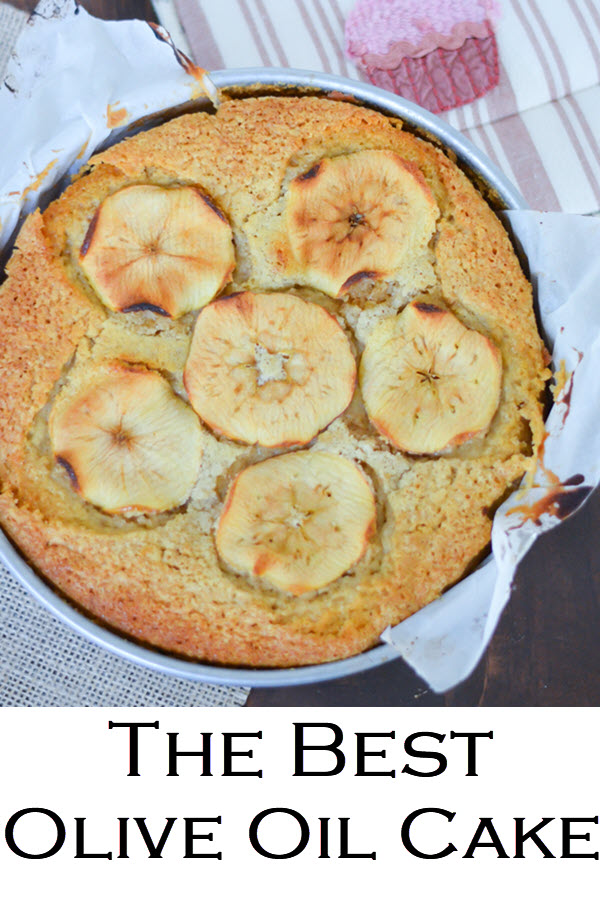 The Best Olive Oil Cake Recipe. This apple cake is moist and easy - a fun fall dessert that everyone will love. Apple slices make this cake look perfect for any dinner table.