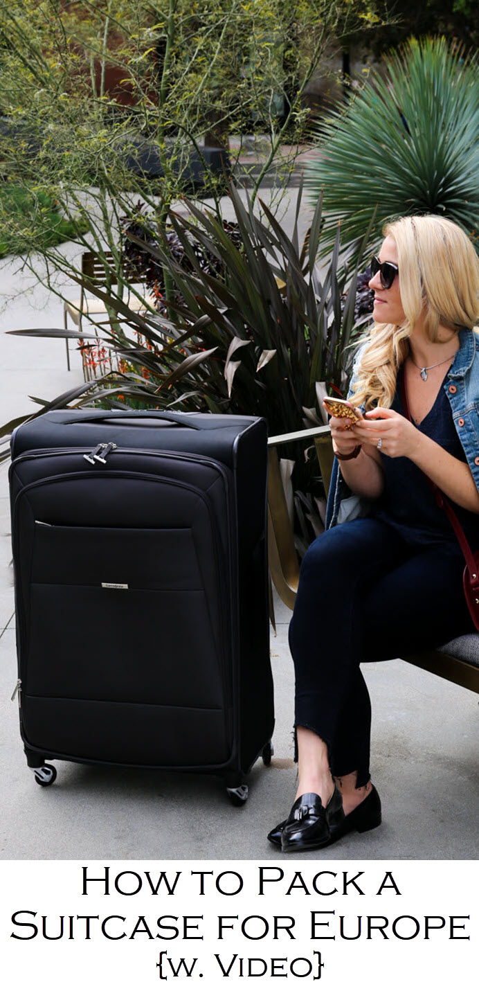 A complete Europe Packing List . Complete with a winter packing list and for extended stay. A packing tip video. Samsonite Eco Nu Review